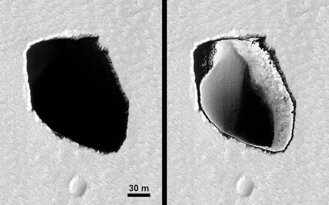 Buraco em Marte estilo Sarlacc Pit de Star Wars