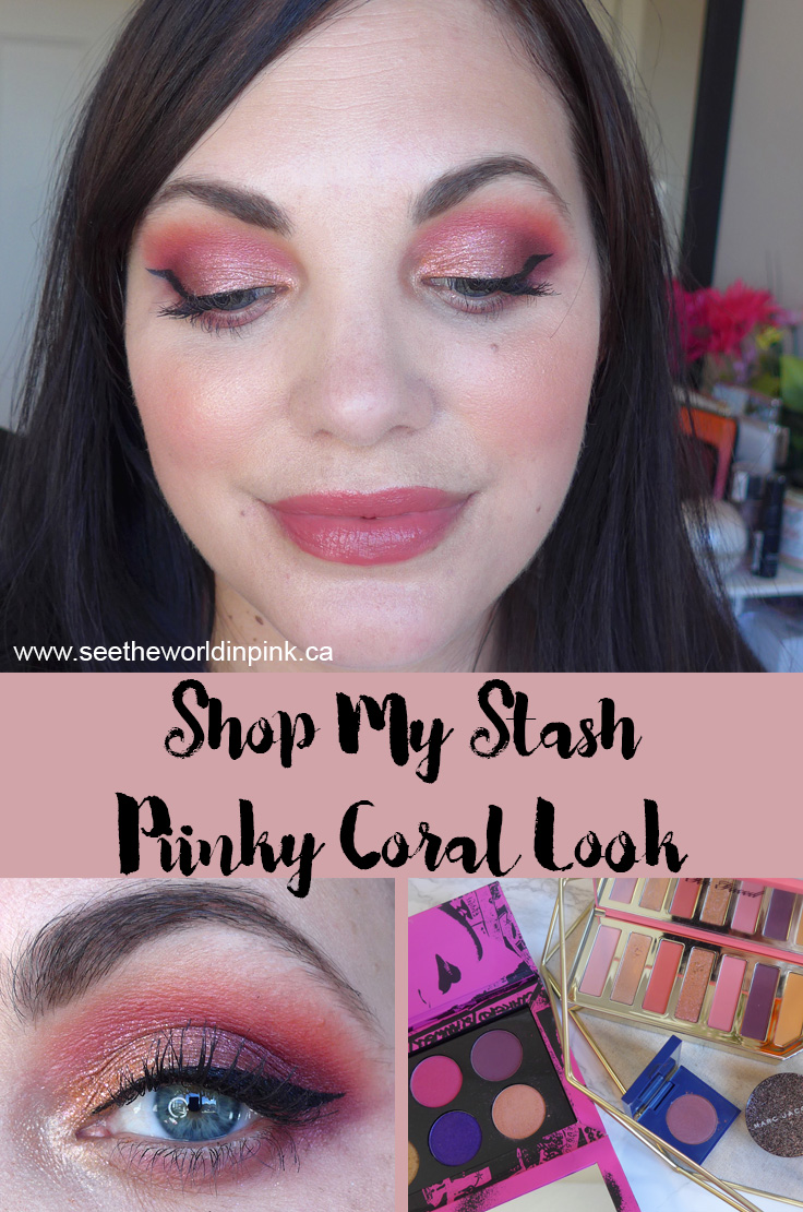 August Shop My Stash - Summery Pinky Coral Look and Duping the Vibes of the Pat McGrath Labs Mothership Rose Decadence Eyeshadow Palette
