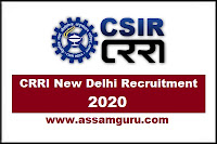 crri recruitment 2019,