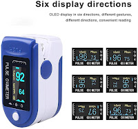 A pulse oximeter measures two things: Blood Oxygen Saturation (SpO2): The measurement that indicates what percentage of blood is saturated. ... Pulse Rate: Pulse rate is nothing but the heart rate that indicates the number of times a heart beats per minute.