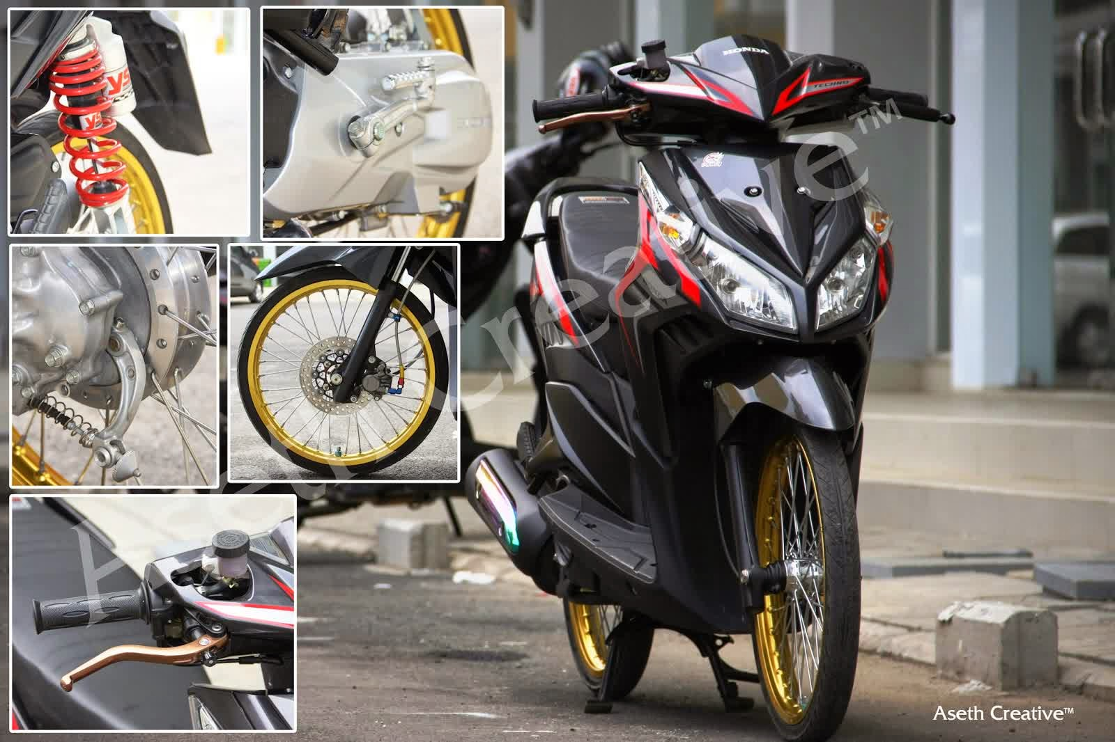 Modifikasi Vario Techno 110 Kumpulan Modifikasi Motor Vario