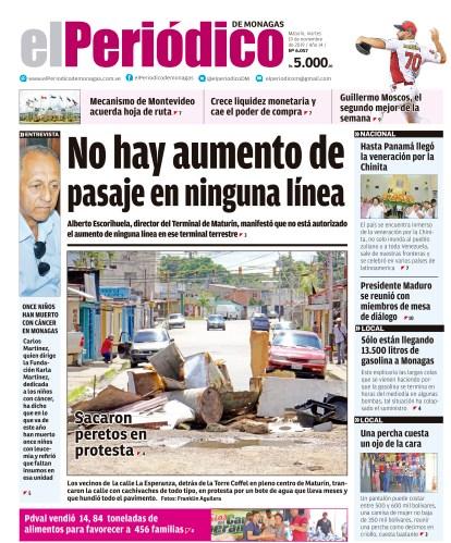 Periódicos de Venezuela Titulares de la prensa nacional de este martes 19 de noviembre