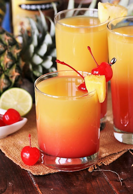 Pineapple Upside-Down Cocktail Image
