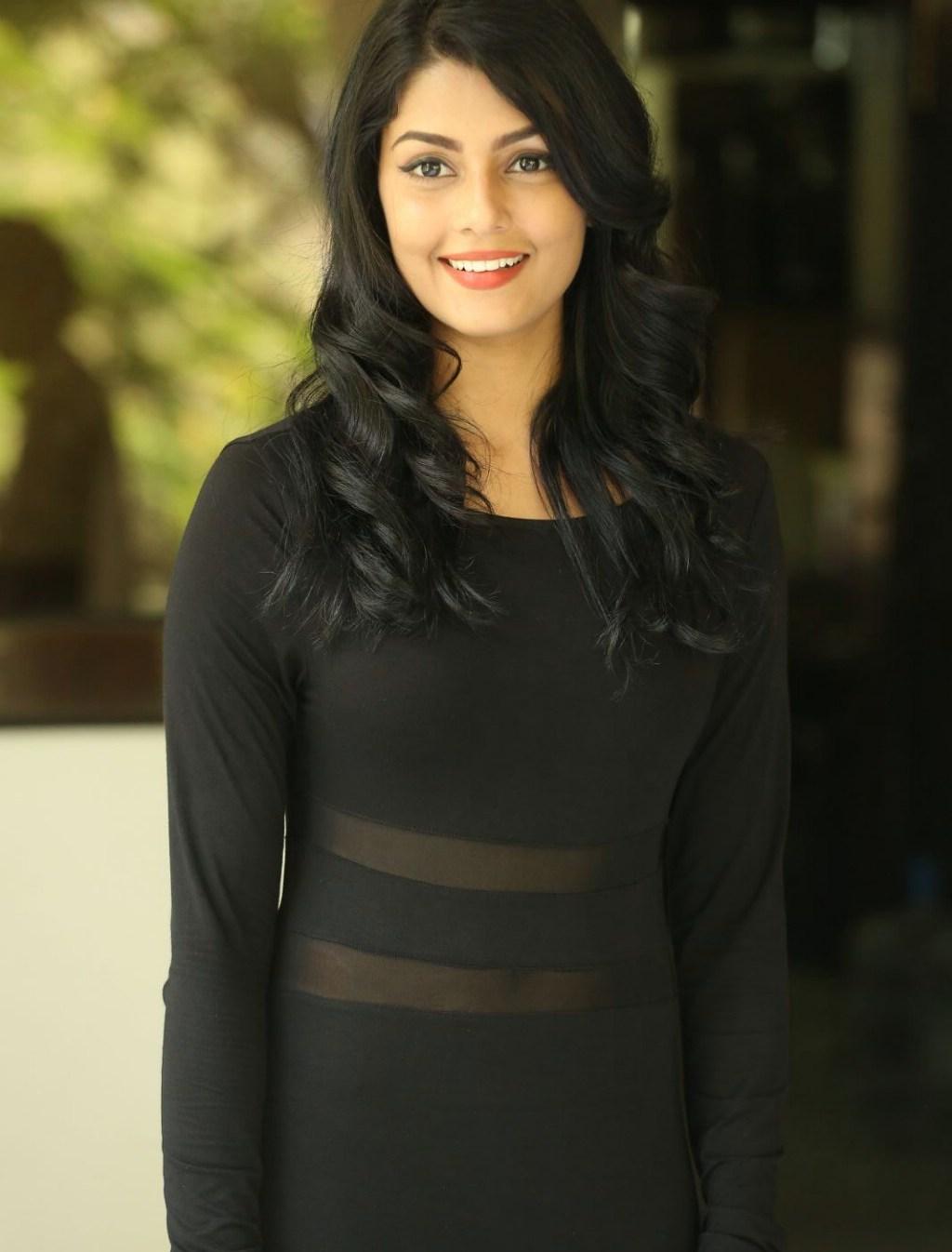 Anisha Ambrose Showcasing Her Sexy Figure In Black Dress -2032