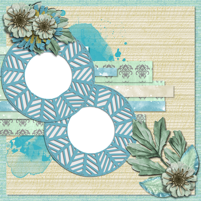 Free Digital Scrapbooking Layout- April 2021 Blog Train by Changing Vases
