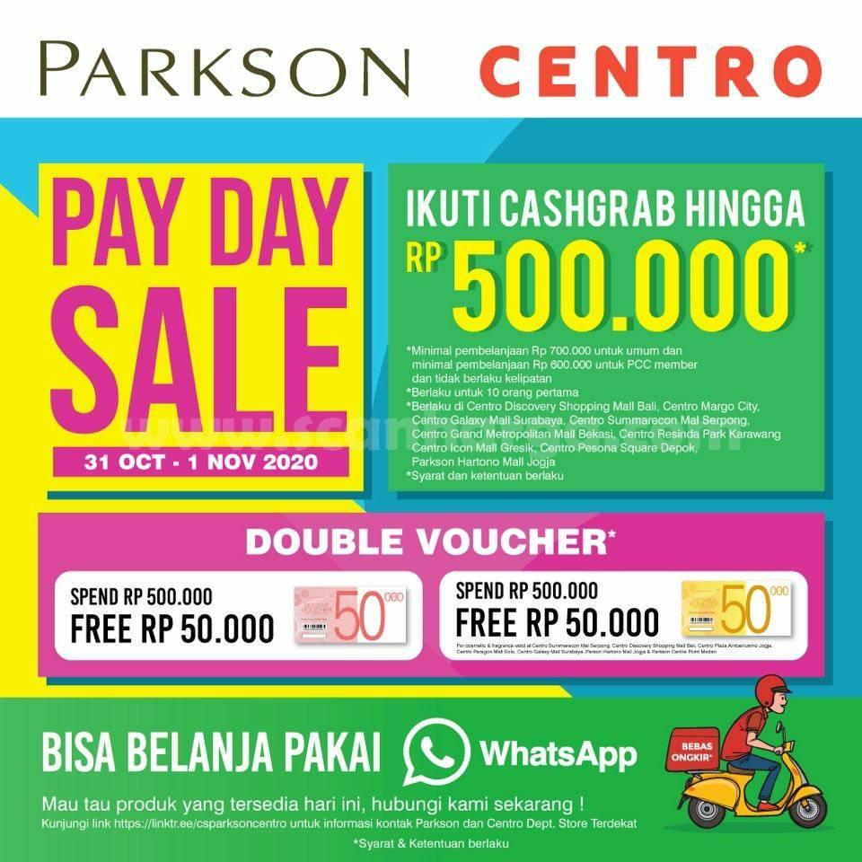 Centro Payday Sale Promo CashGrab hingga Rp 500.000,-