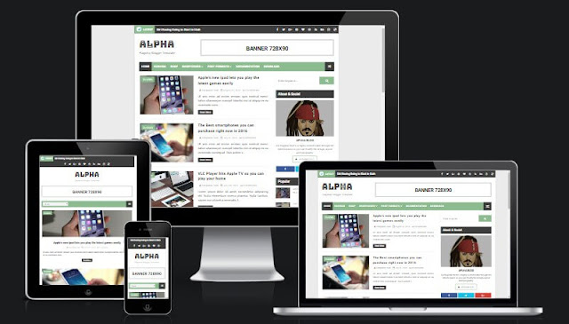 Alpha Niche Responsive Blogger Template | SEO Ready and Optimized