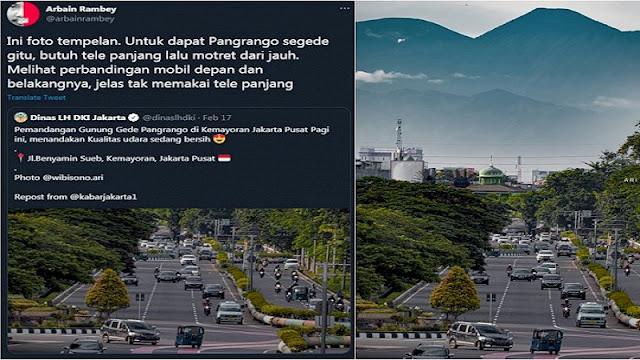 Foto Gunung Gede Dituding 'Tempelan', Geisz: Bagi Kaum Otak Dikit, Jakarta Ga Boleh Ada yang Kelihatan Bagus