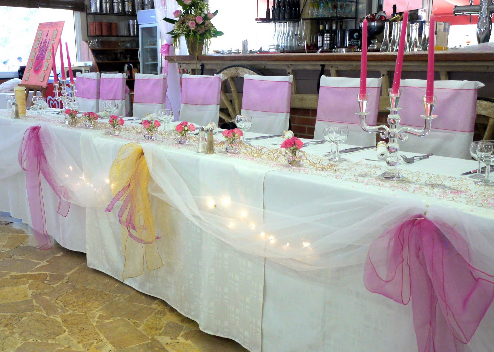 decoration table mariage princesse