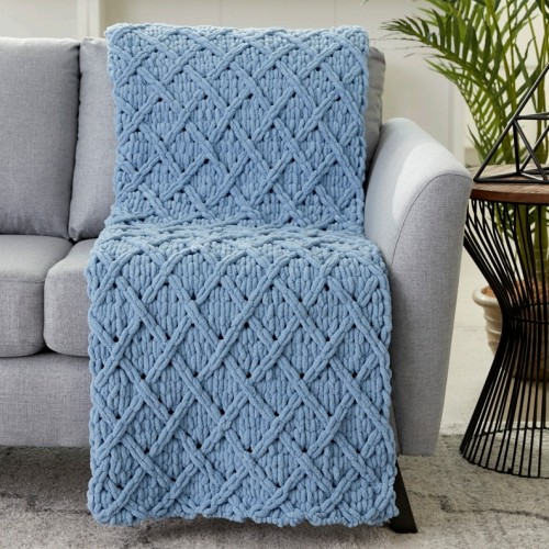 Diamond Lattice Blanket - Free Pattern