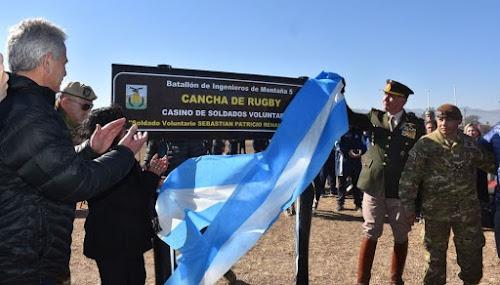 La V Brigada de Montaña inauguró su cancha de rugby y debutó el femenino