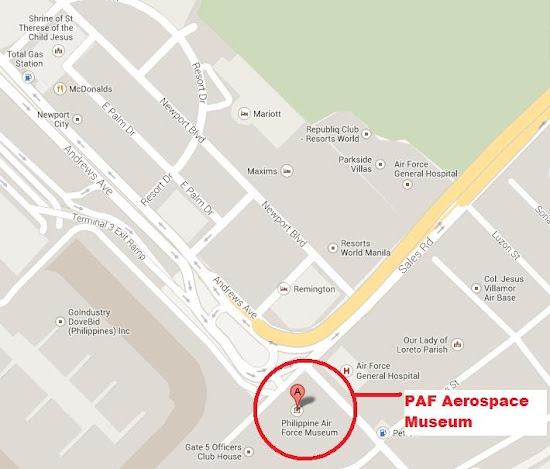 Vicinity Map of PAF Aerospace Museum