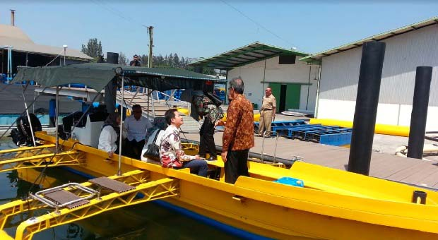 PT. GAD Ekspor Peralatan Budi Daya Ikan ke Maldives