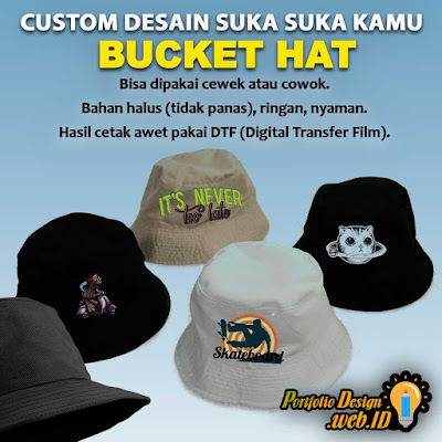 Bucket Hat Custom Desain Portfolio Design WEB ID