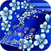 Blue Flower Glitter Diamond Business Theme Apk free Download for Android