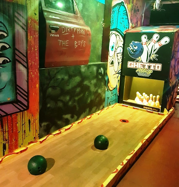 A bowling hole at Ghetto Golf in Liverpool