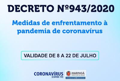 Decreto 943/2020 da covid-19 em Maringá. Café com Jornalista