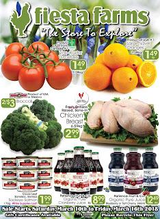 Fiesta Farms Flyer Weekly Specials valid March 10 - 16, 2018
