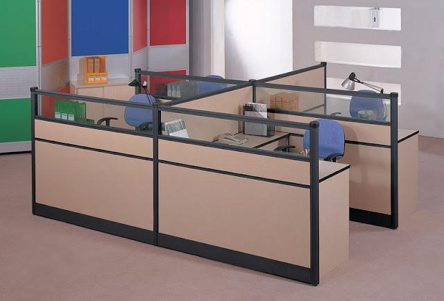 Với thiết kế linh hoạt, độ mỏng tối ưu, vách ngăn văn phòng có thể thay thế những bức tường để phân chia không gian văn phòng