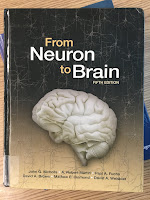 From Neuron to Brain, by Stephen Kuffler and John Nicholls, superimposed on Intermediate Physics for Medicine and Biology.