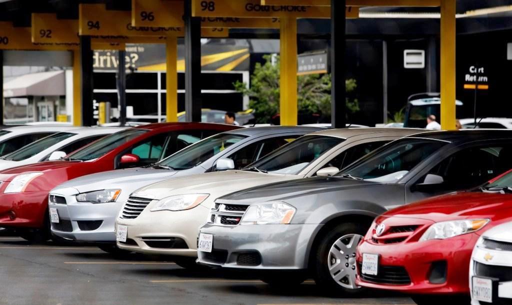 Checking out the Alamo car rental