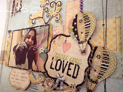 scrapbook you are loved simple stories baby