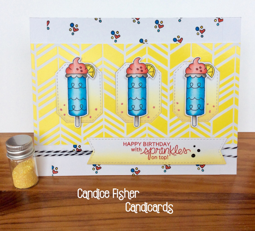 Happy Birthday with sprinkles on top by Candice features Summer Scoops by Newton's Nook Designs; #newtonsnook