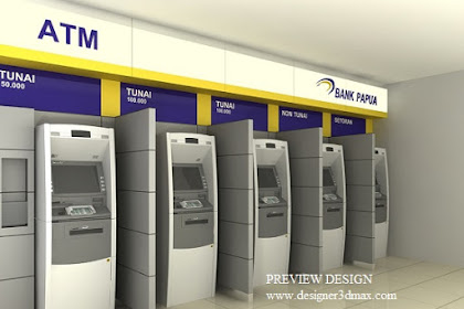 Jasa desain ATM Center di Mall Pasar Swalayan Bandara Statiun Terminal