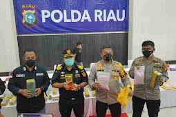 Polda Riau Gagalkan Peredaran Narkoba Jenis Sabu 40 Kg dan Ekstasi 50.000 Butir Asal Malaysia