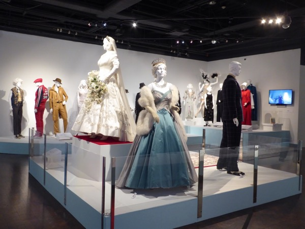 Crown TV costume design exhibition FIDM