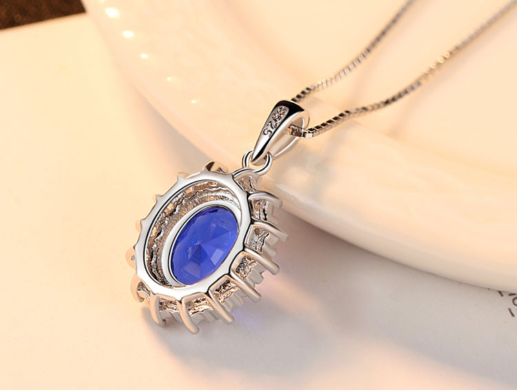 摩納哥王妃人造寶石 925純銀項鍊