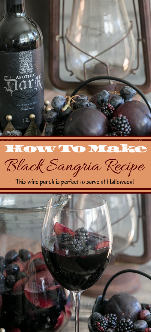 Black Sangria Recipe #healthydrink #easyrecipe #cocktail #smoothie