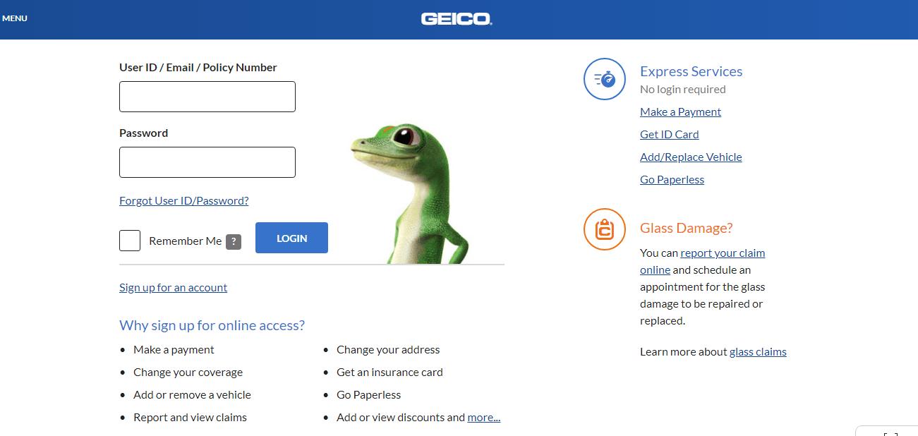 Geico Auto Insurance Customer Login