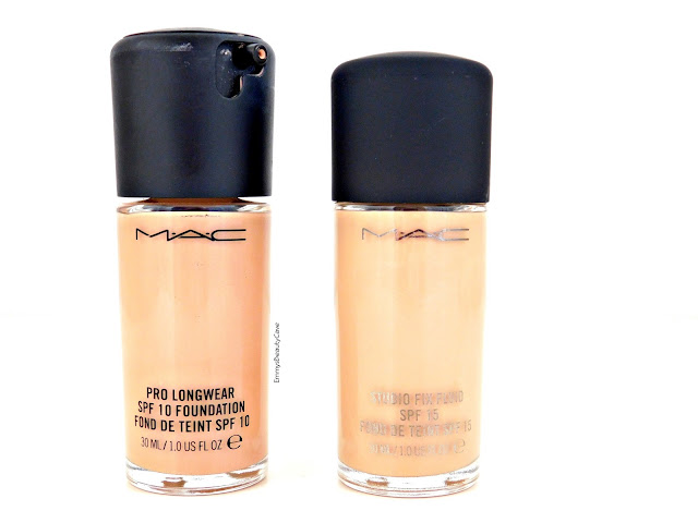 MAC Pro Longwear Foundation vs MAC Studio Fix Foundation