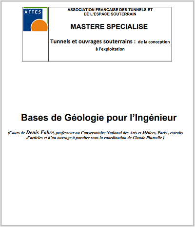 Cours : Bases de Géologie pour l'Ingénieur - Mastère spécialisé PDF