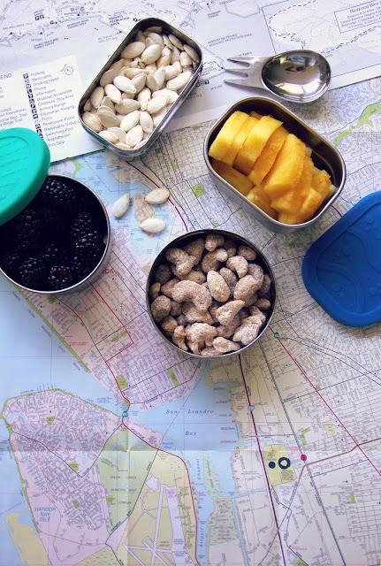 snacks on a map Photo by Sandra Harris on Unsplash