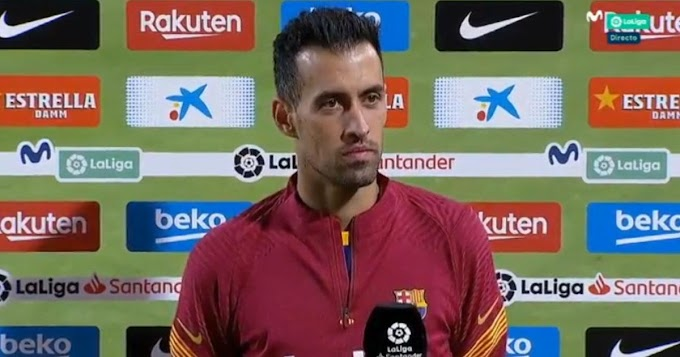 Busquets reacts to Barcelona performance in La Liga clash with Villarreal