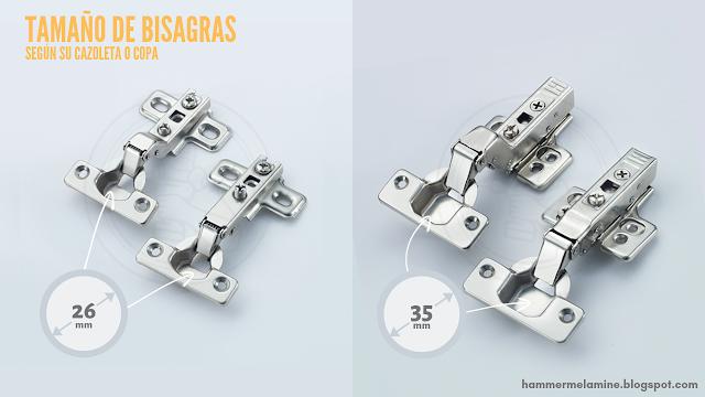 dimension de bisagras para muebles tamaño de bisagra cangrejo