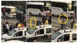 بالفيديو عون امن يعتدي بالعنف على شاب و يهدد المواطنين بسلاح؟