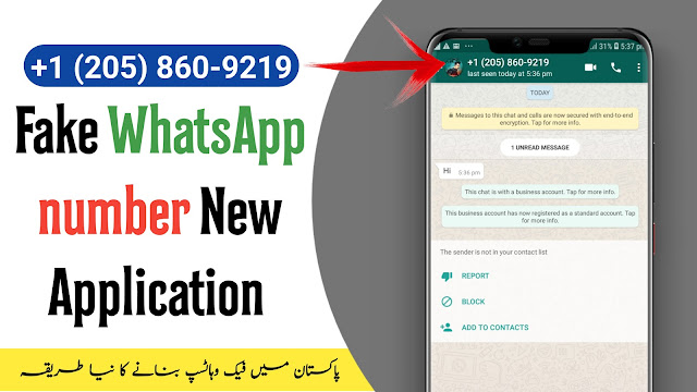 Fake WhatsApp number in Pakistan/india