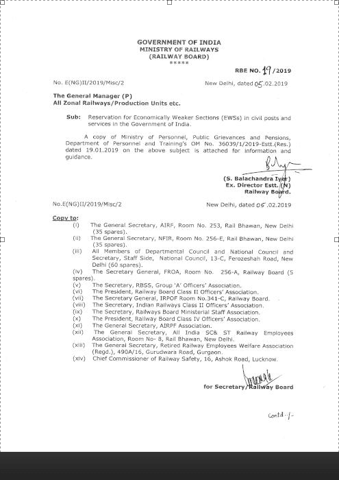 Reservation-Policy-ews-rbe-19-2019-railway