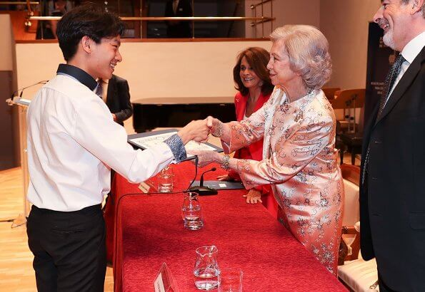 Queen Sofia presided over the award ceremony of the 30th scholarships of Juventudes Musicales de Madrid Musical Youth of Madrid
