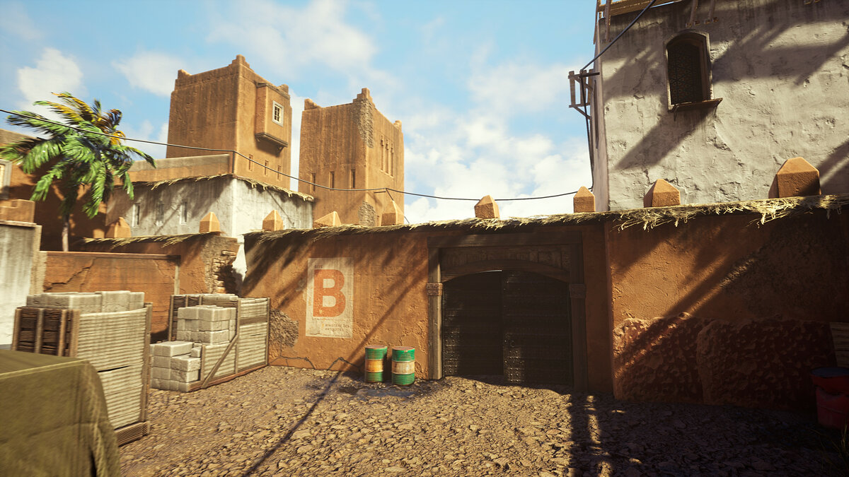 The iconic Dust 2 map from Counter-Strike was transferred to Unreal Engine 4