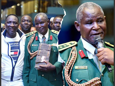 Renown Billionaire Prophet, Jeremiah blessed Military General JJ John with over 1.5million Naira [Watch Videos]