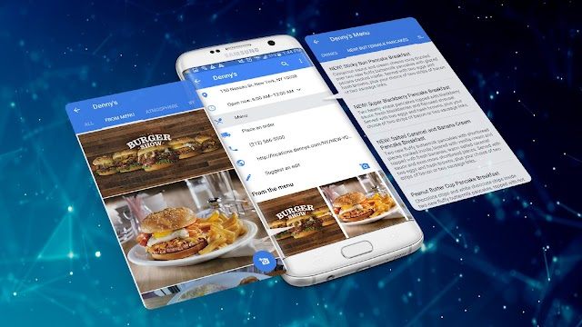 Use Google Maps to find the best restaurant menu items and order online