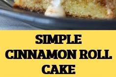 SIMPLE CINNAMON ROLL CAKE