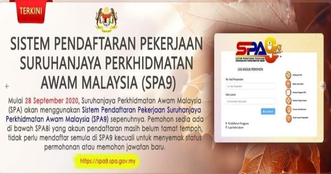 Semakan Status Permohonan Spa9 2020 Online Spa