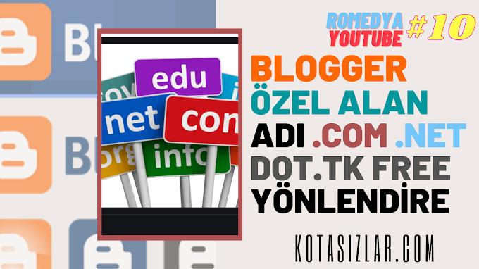 Blogger Özel Alan Adına Yönlendirme 2021