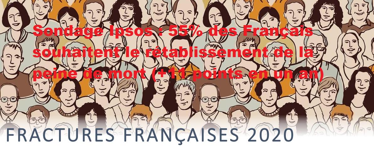 🇫🇷 Sondage Ipsos : 55% des Français souhaitent le rétablissement de la peine de mort (+11 points en un an)
