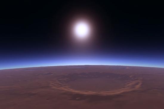 12 23 12 - Mars sunset wallpaper ...